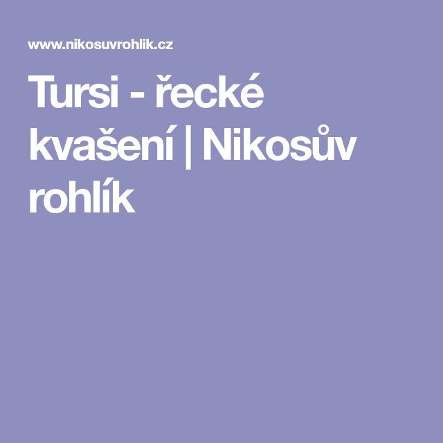 Tursi - řecké kvašení   Nikosův rohlík