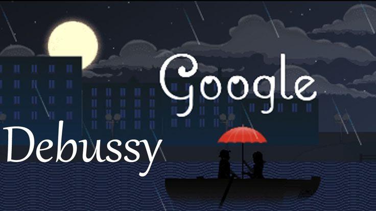 Hoy en Google encontramos una bonita animación para la melodía de Claro de Luna, en honor a su compositor Claude Debussy
