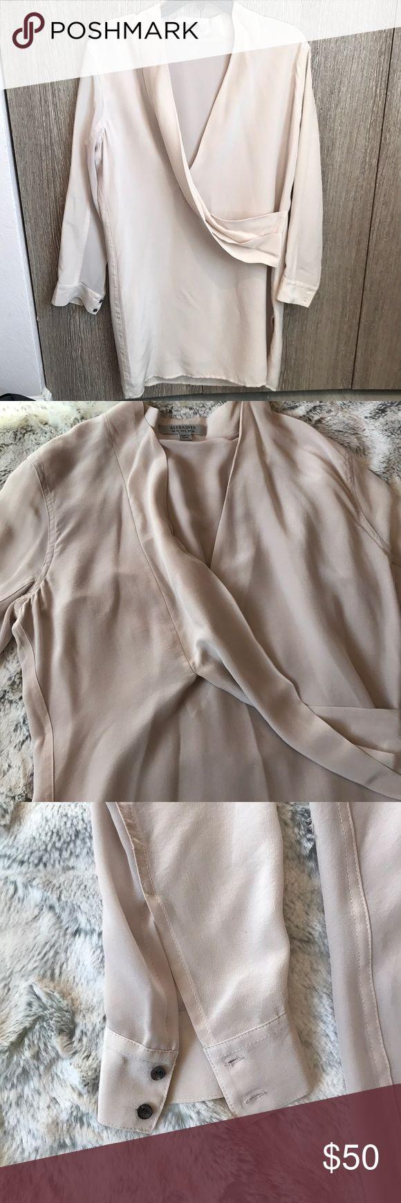 ALLSAINTS dress Beautiful all saints dress. Only worn once, size 6 cream/blush color All Saints Dresses Midi