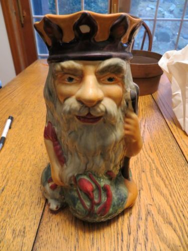 Vintage Shorter & Sons Large Father Neptune Toby Jug  ~ England Hand Painted