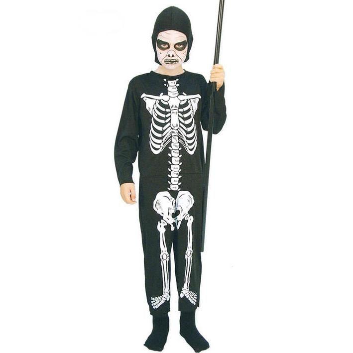 Disfraz de esqueleto tradicional para niño