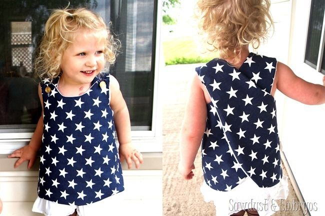 Simple wrap-around toddler shirt (or dress!) tutorial {Sawdust and Embryos}
