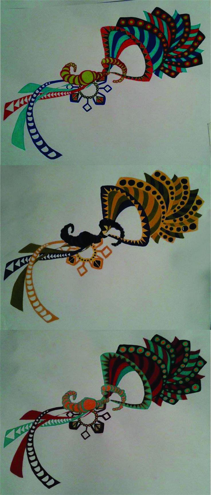 TP 2 Rapport y Estampa - Estampa única y cambios de color - Arte Huichol