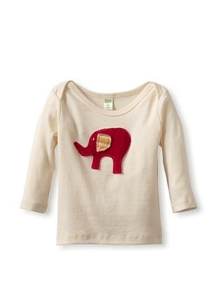 53% OFF Cate & Levi Baby Elephant Long Sleeve Lap Tee (Pink)