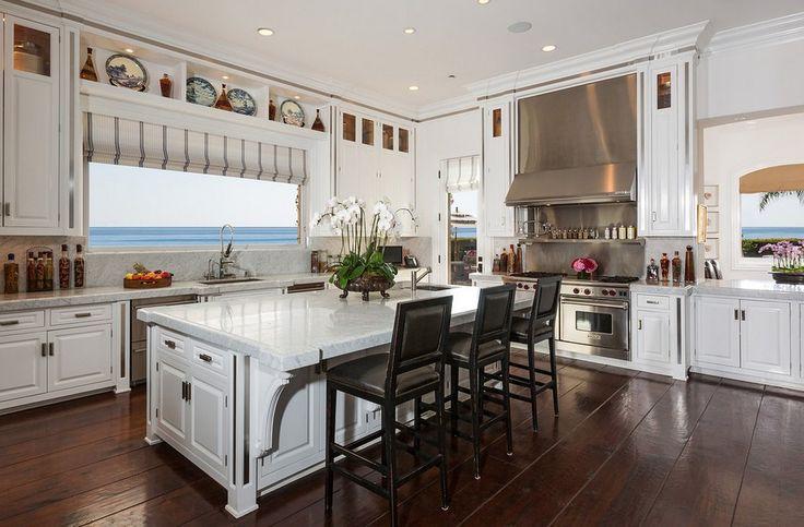 The custom kitchen houses Twitter's famous fridge.  Source: Chris Cortazzo