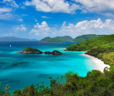 U.S. Virgin Islands: Between St. Thomas and St. John It's fitting that the passenger ferry to tranquil St. John, a lush island that's 60 per...