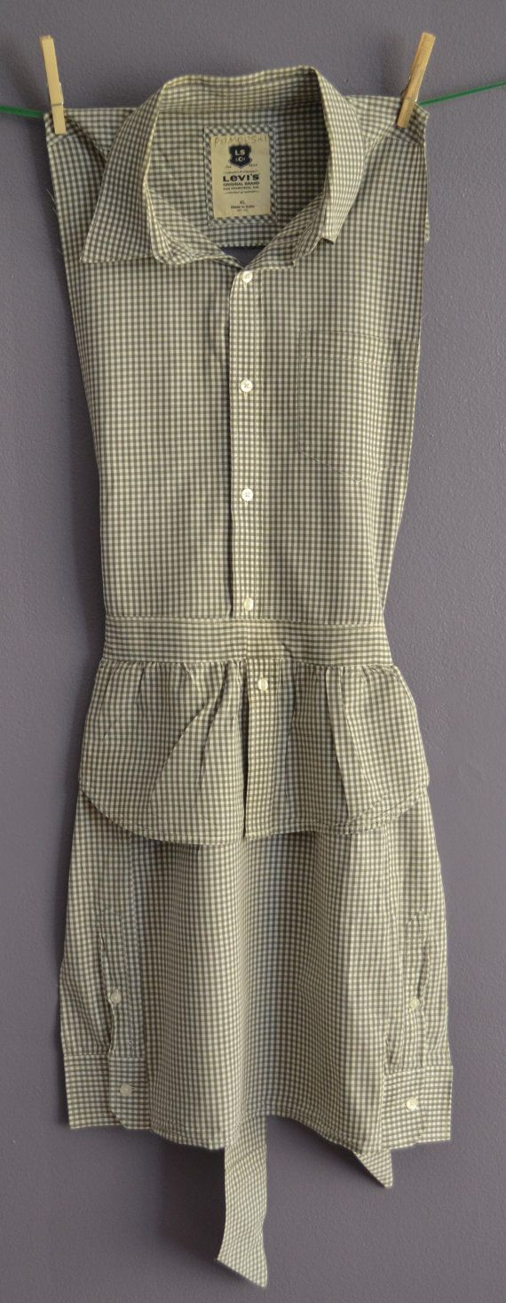 Upcycled Men's Shirt Apron Pattern by PatchworkE on Etsy