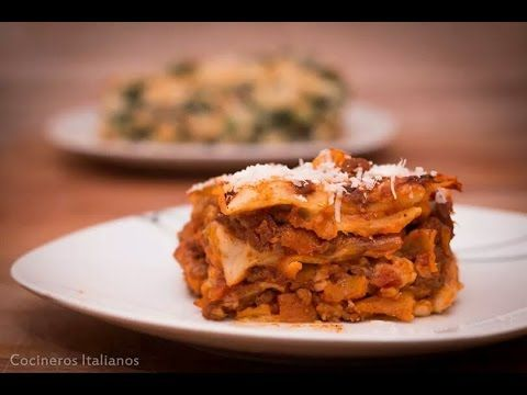 Como Hacer Lasaña de Carne Molida Boloñesa | Receta Completa Facil | Lasagna | Recetas Italianas - YouTube