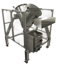 AFI offers all sizes of V-blenders starting with lab sized V-blenders both in mobile and tabletop configuration to large scale Production units. This blender is ideal for Pharmaceutical, Nutraceutical, Food, Cosmetic and Chemical applications. http://abilityfab.com/products/stainless-steel-blenders-mixers/