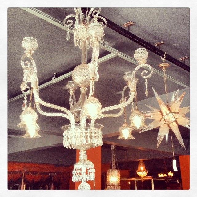 chandeliers, lights