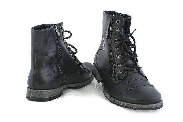 Skorzane Meskie Buty Nad Kostke Polski Producent Combat Boots Boots Shoes