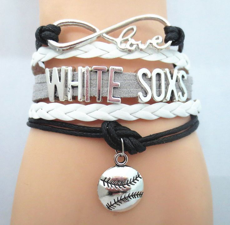 Infinity Love Chicago White Sox Baseball - Show off your teams colors! Cutest Love Chicago White Sox Bracelet on the Planet! Don't miss our Special Sales Event. Many teams available. www.DilyDalee.co