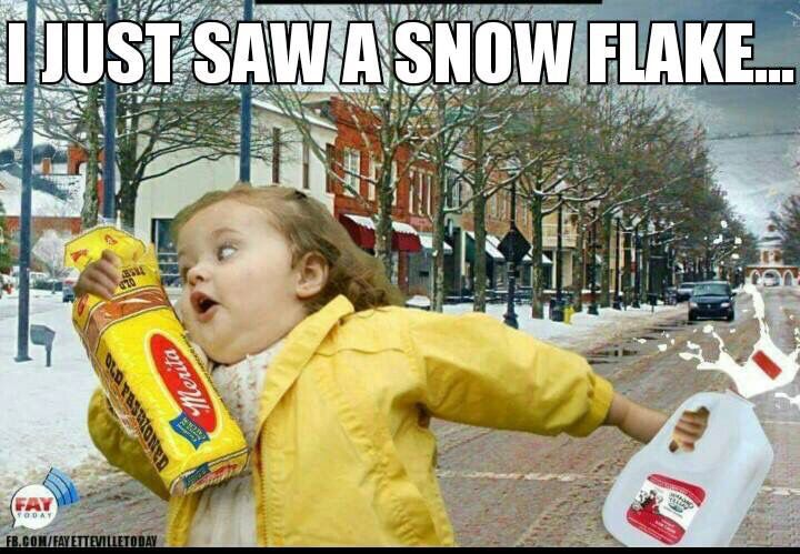 Honestly, seriously, its only snow, the world is not going to end!