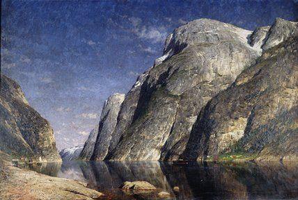Le Sognefjord, Norvège de Adelsteen Normann (1848-1918, Norway)