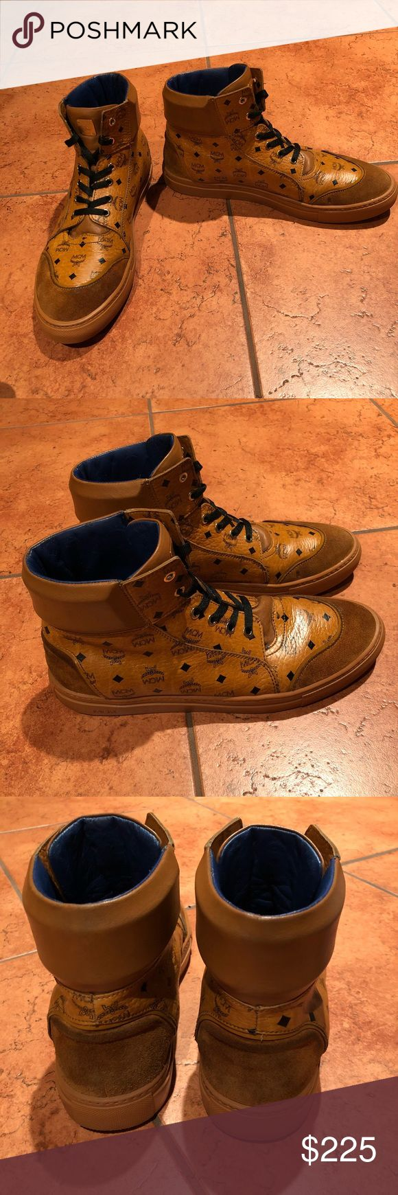 MCM Men's Classic Viseto's Hi Top Sneakers Sz 12 MCM fashion sneakers in perfect condition. Comment with any questions! MCM Shoes Sneakers