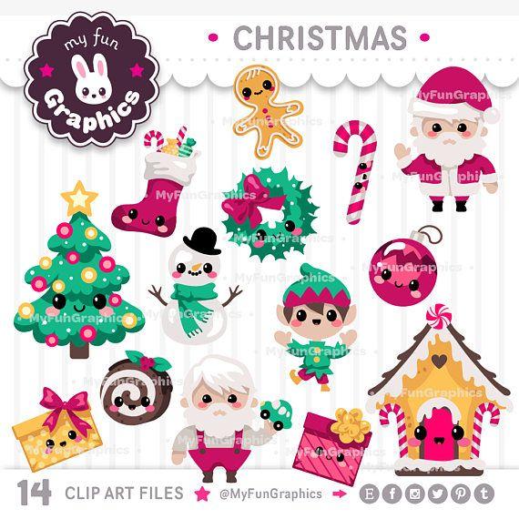 Christmas kawaii clip art christmas cute clipart