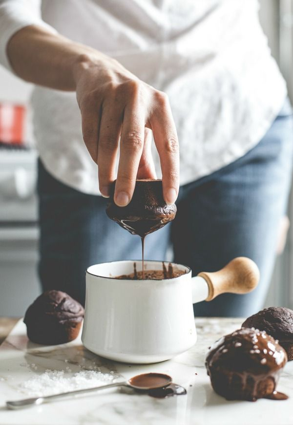 Salted Cocao Nutella Cupcakes