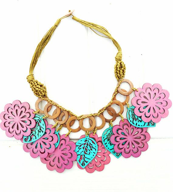 African Statement Multicolor Necklace Theatrical Jewels