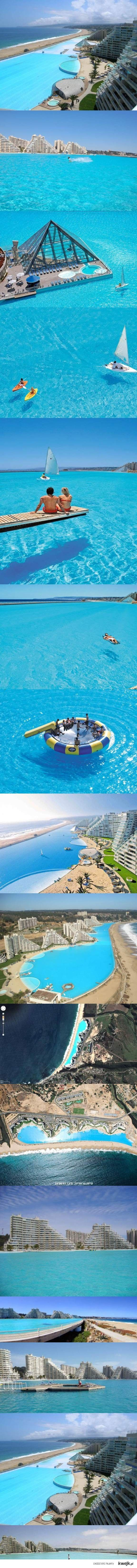 The largest swimming pool in the world, located in Chile, where you can sail, kayak, and swim ...