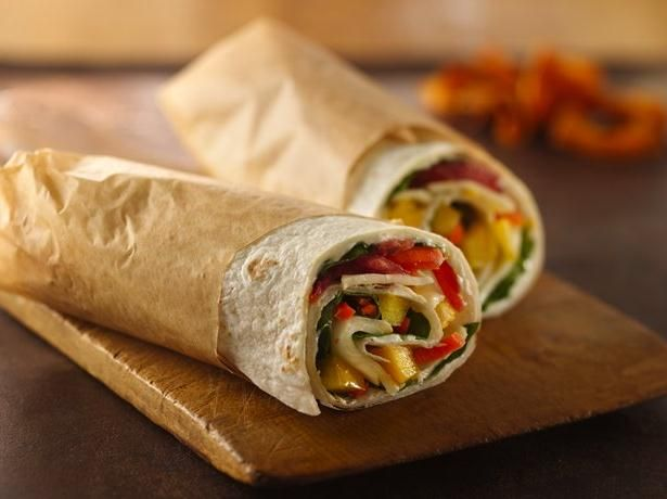 Garden Vegetable Wraps- use hummus instead of the cream cheese