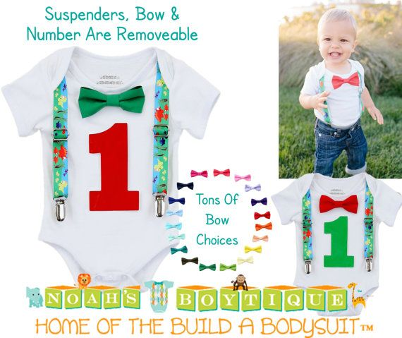 First Birthday Dinosaur Outfit  Shirt  1st by NoahsBoytiques