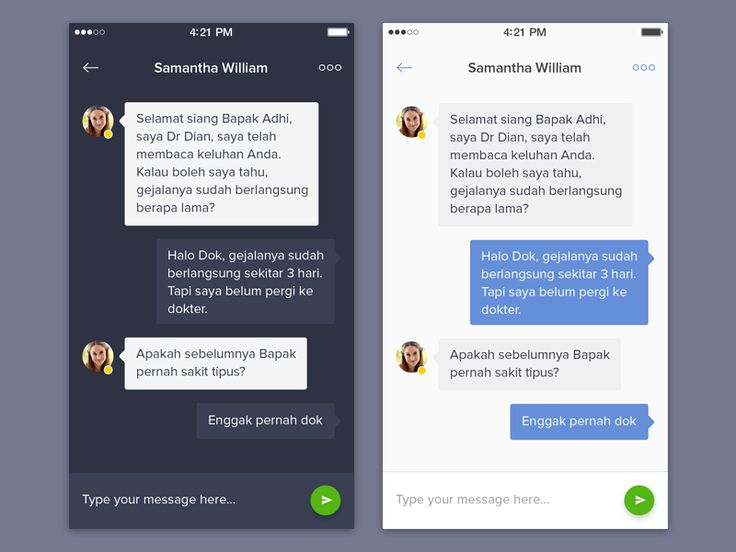Chat App - Dark and Light by Dwinawan Hariwijaya