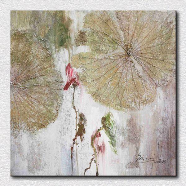 Лотоса фотографий абстрактная живопись маслом экологически холст картины для спальни отделка стен уникальный подарок