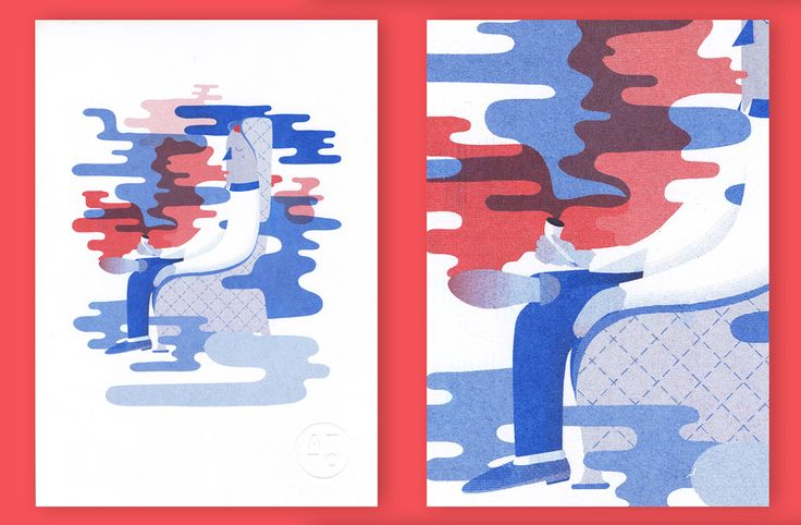 Red and Blue, Risograph Prints by Atto | Graphic Art News