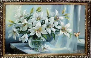 Букет белых лилий - Натюрморты <- Картины маслом <- Интерьер <- VIP - Каталог | Универсальный интернет-магазин подарков и сувениров
