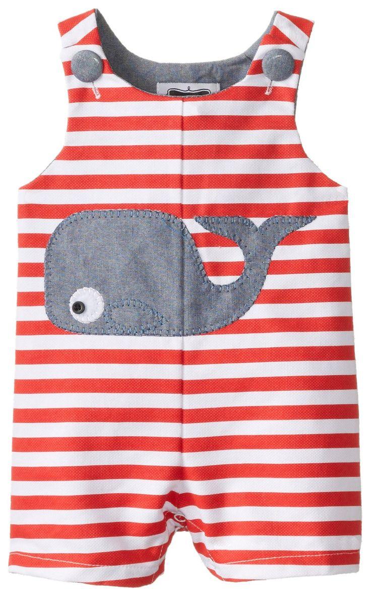 Amazon.com: Mud Pie Baby-Boys Newborn Whale Shortall: Clothing