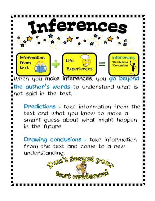 Inferences with predictions and conclusions