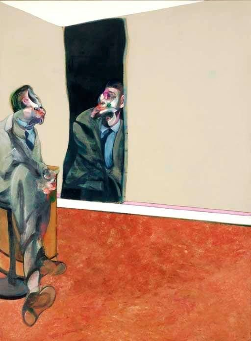 Francis Bacon - Portrait of George Dyer Looking Into Mirror, 1967