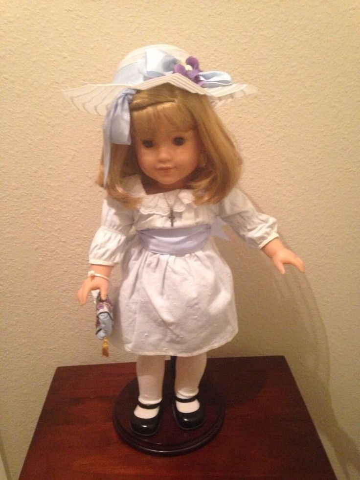 18 Inch Retired American Girl Doll - Nellie, With Stand EUC