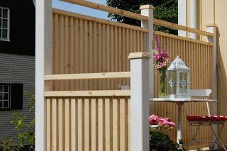 Högt staket till altan