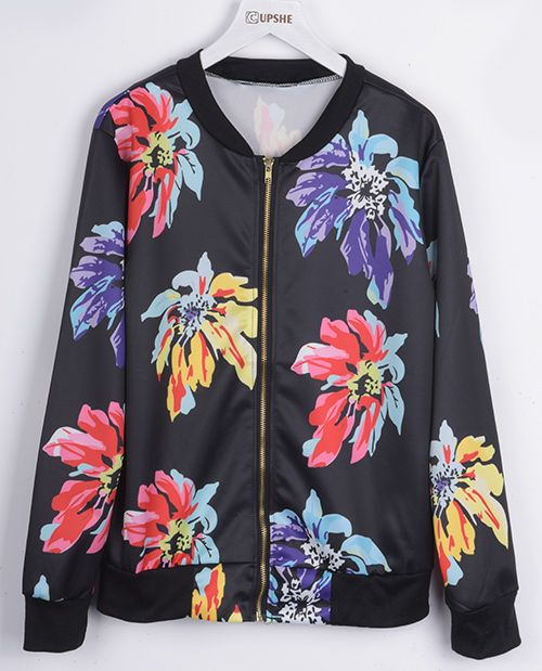 Enjoy this fall with free shipping&easy return! Girl! This floral zipper coat gonna stand you up even in your morning jogging time! Find more surprises at Cupshe.com Only!
