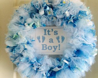 Baby Girl Wreath/Gender Reveal Decor/New by LilLadybugCreation