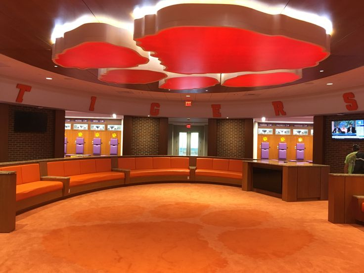 """CLEMSON """"PAW"""" logo installed at the Clemson Football Facility"""