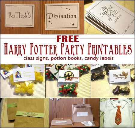 Tons of Free Harry Potter Printables: VERY COOL! Has whole book of printable spells and potions!