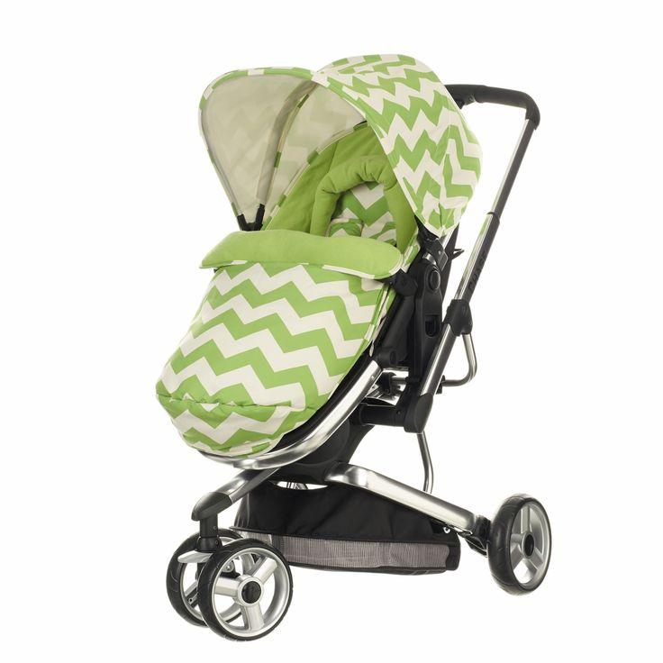 Obaby Chase 3 Wheeler Stroller - ZigZag Lime