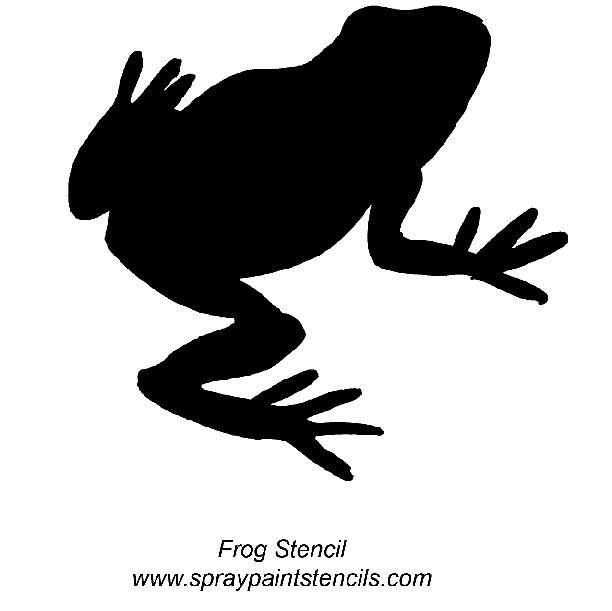 Spray Paint Stencils   Printable Frog Template 2010 2011 And Blank April Calendar