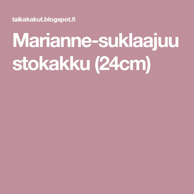 Marianne-suklaajuustokakku (24cm)