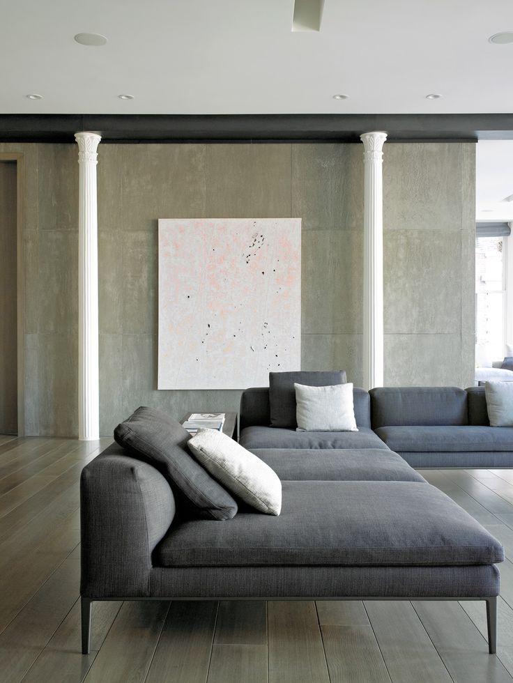 deep, deep, deep sofa - clean & minimal