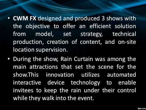 CREATIVE EXPERIENCES OF CWM FX LATEST UPDATES