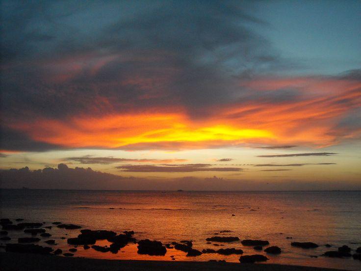 Tailandia, Isla de Lanta, puesta del sol Enero 2013