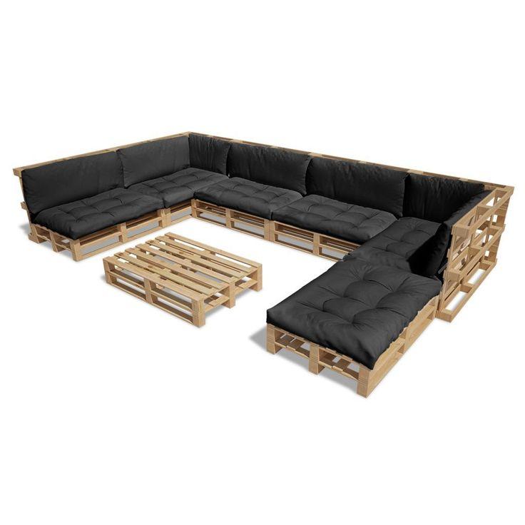 25 best ideas about lounge aus paletten on pinterest. Black Bedroom Furniture Sets. Home Design Ideas