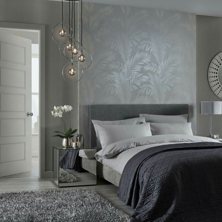 like the textures, light and wallpaper above bed...different pattern preferred