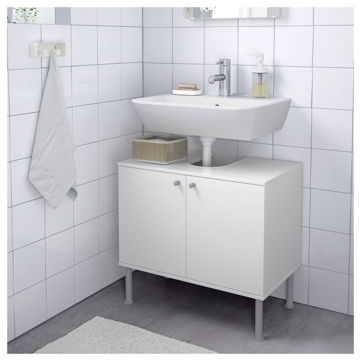 IKEA FULLEN Wash-basin base cabinet w 2 doors White 60x55 cm