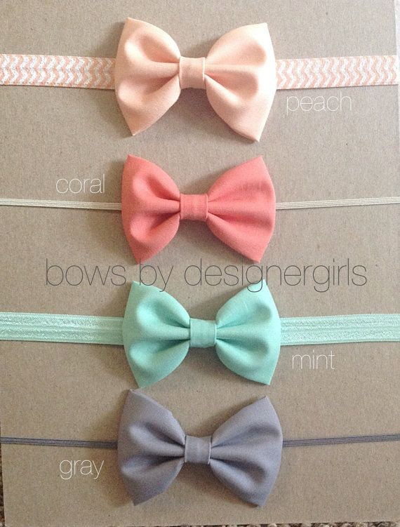 SET OF FOUR baby girl bow headband, Girl hair accessory, photography prop, baby girl headband