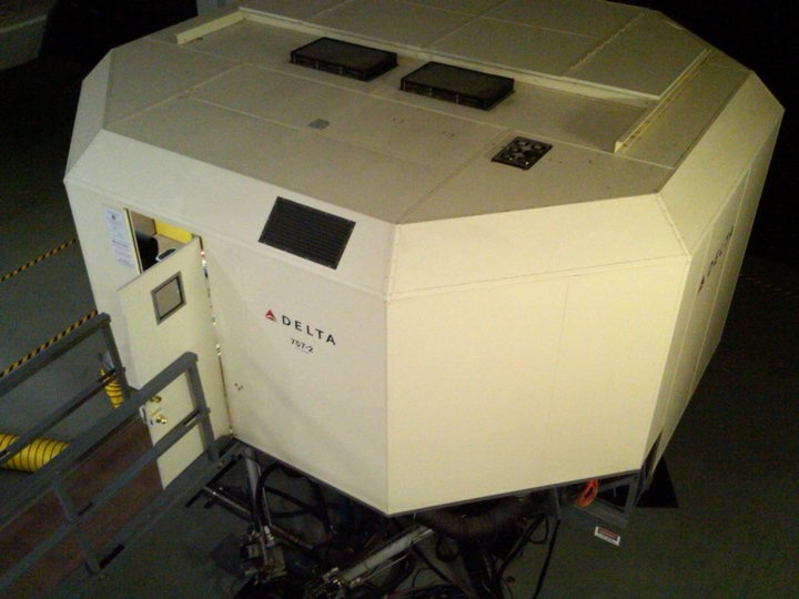My 747 flight simulator at Delta Headquarters