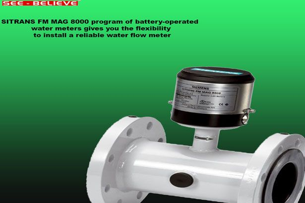 The SITRANS FM MAG 8000 program of battery-operated water meters gives you the flexibility to install a reliable water flow meter virtually anywhere without sacrificing accuracy or performance